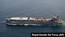 تصویر ناوبندر مکران در دریای بالتیک، ثبت شده توسط نیروی هوایی سلطنتی دانمارک