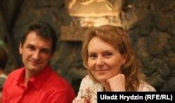 Віталь Цыганкоў і ягоная жонка Вольга.