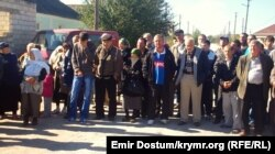 Residents of Belogorsk gathered on September 29 to pray for the missing men.
