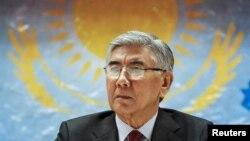Председатель Общенациональной социал-демократической партии (ОСДП) Жармахан Туякбай на предвыборном съезде в Алматы. 30 января 2016 года.