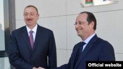 Президент Франции Франсуа Олланд в Баку, 12 мая 2014