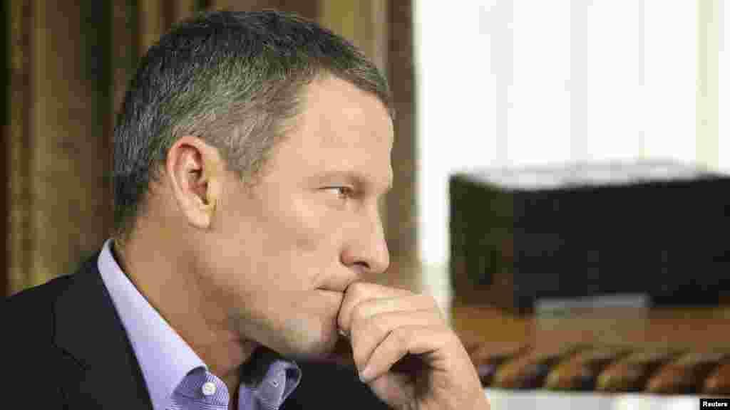 SAD - Lance Armstrong u razgovoru sa Oprah Winfrey, Austin, Texas, 14. januar 2013. Foto: REUTERS / George Burns