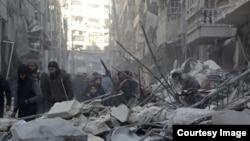 Снимок из Алеппо от 4-го февраля