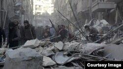 Pamje nga shkatërrimet në Alepo nga luftimet e para dy ditëve