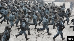 The Berkut special police were blamed for violent attacks against demonstrators during the three months of antigovernment protests, which resulted in the deaths of dozens of protesters.