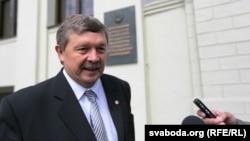 Лідэр партыі «Справядлівы сьвет» Сяргей Калякін. 15 ліпеня 2015 году