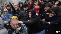 Kiyevdə etiraz nümayişi