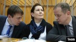 Украин әдебиеті кітапханасының директоры Наталья Шарина сот залында. Мәскеу, 2 қараша 2016 жыл.