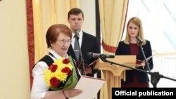 Зоя Романова (Филиппова) на вручении госпремии Чувашии, 20 июня 2017 года