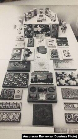 Экспонаты одной из выставок упаковки, в которой участвовал Петр Чеканов