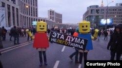 """Шествие """"За честные выборы!"""", Москва, проспект Сахарова"""