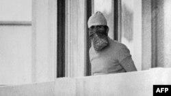 Арабскі тэрарыст уІзраільскім доме алімпійскай вёскі ўМюнхэне падчас захопу закладнікаў, 1972 год