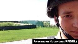 """Bivši krasnojarski student Valentin kao borac dobrovoljačkog bataljona """"Azov"""" u Ukrajini"""
