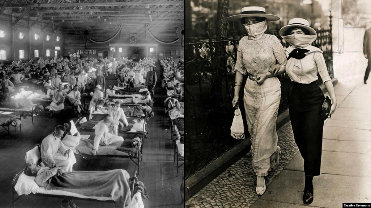 Пандемия испанского гриппа, который заразил треть мира в 1918 году
