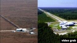 Два интерферометра aLIGO, в штате Вашингтон и Луизиане