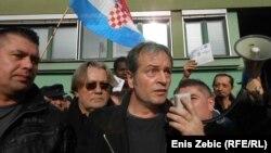 Marko Jurič na prosvjedu, foto: Enis Zebić