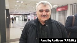 Afqan Muxtarli arrives at Berlin's Schoenefeld Airport on March 17.