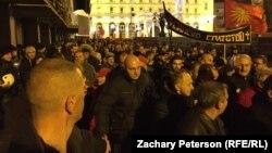 La protestele de la Skopje