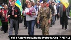 Днепропетровск, шествие в честь Дня памяти и примирения, 8 мая 2016 года