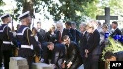 Польша. Европа лидерлери 2-дүйнөлүк согуштун башталышынын 70 жылдыгын эскерген жыйынга чогулушту. Гданск, 2009-жылдын 1-сентябры.