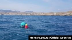 Кайтсерфер в море