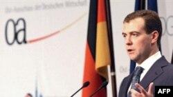 Европаның иминлек килешүен булдыру фикерен Медведев беренче тапкыр Берлинда яңгыратты