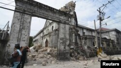 Pasojat e tërmetit në Filipine, 15 tetor 2013.