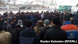Митинг жителей села Орукту, 15 января 2017 г.