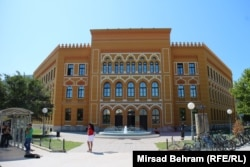 Two ethnicities under one roof -- the high school in Mostar