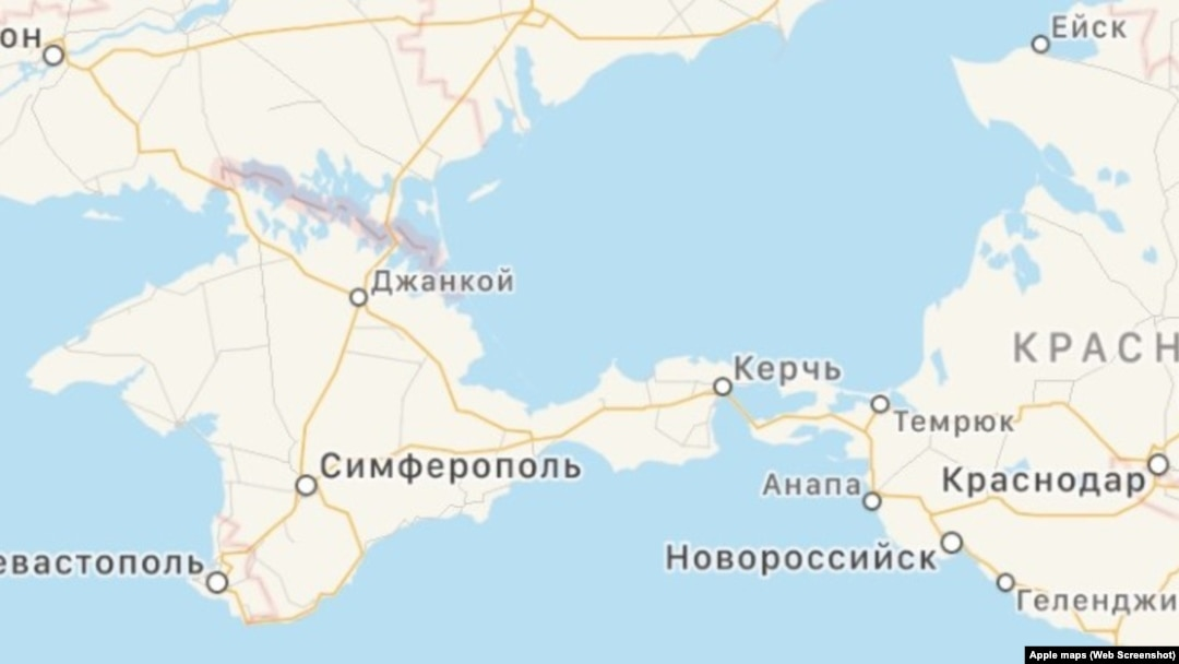 Apple's Apps Show Ukraine's Crimea As Part Of Russia on jenne africa on world map, siam on world map, anatolia on world map, el alamein on world map, kilwa on world map, cascade mountain range on world map, world war 1 british blockade map, balkan powder keg map, kola peninsula on world map, dalmatia on world map, yucatan peninsula on world map, iberian peninsula on world map, batavia on world map, canton china on world map, crimea naval ports map, sevastopol crimea map, north africa on world map, elba world map, rift valley on world map,