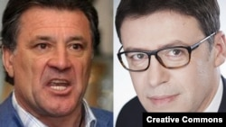 Dinamo Zagreb's executive director, Zdravko Mamic (left), has landed himself in hot water for insulting comments he directed at Croatia's ethnic Serb education and sports minister, Zeljko Jovanovic (right).