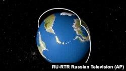 Imagini prezentate de postul de televiziune RTR