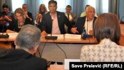 Nebojša Medojević i Andrija Mandić na sjednici Administrativnog odbora, 25. julža