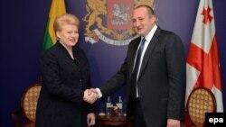 Президенти Литви Даля Ґрібаускайте і Грузії Ґіорґі Марґвелашвілі