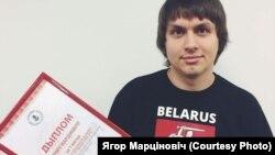 """Ягор Марціновіч, галоўны рэдактар """"Нашай нівы"""", Архіўнае фота."""