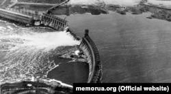 Підірвана в серпні 1941 року Дніпровська ГЕС