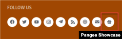 Пример добавленной кнопки Google News (футер)