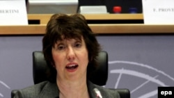 EU top diplomat Catherine Ashton raised concerns about Belarus's treatment of ethnic Poles.