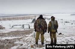 Russia-backed separatist fighters in eastern Ukraine in 2014.