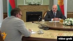 Lukashenka speaks to RFE/RL's Valer Kalinouski.