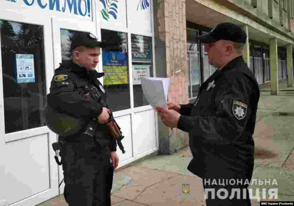 Шайлоо күнү коомдук тартипти сактоо үчүн Украинанын Ички иштер министрлигинин 130 миңден ашык кызматкери иштеп жатат.