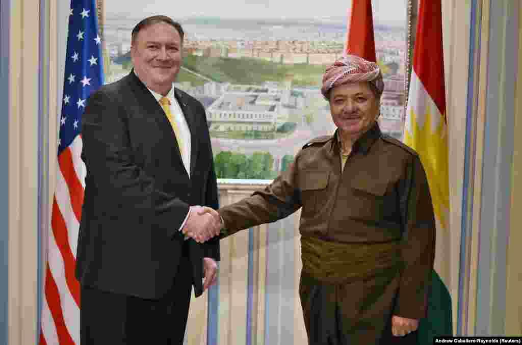 САД / ИРАК - Американскиот државен секретар Мајк Помпео допатува во ненајавена посета на Багдад. За време на посетата, тој се сретна со ирачкиот министер за надворешни работи Мохамед Али ал-Хаким, со претседателот на парламентот и со други ирачки претставници.
