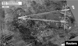 Вигляд авіабази Шайрат із повітря, архівне фото, лютий 2017 року