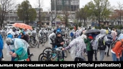 Кыргызстандагы велосипеддер. 1-апрель, 2018-жыл.