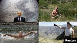 Power man? Putin flexes his muscles.