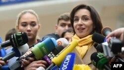 Maia Sandu, în ziua alegerilor din 13 noiembrie