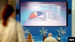 Европарламентке шайлоонун жыйынтыгы көрсөтүлүүдө. Белгия. 2009-жыл.
