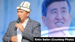 A teacher at a Kyrgyz law academy is being investigation for reportedly warning students that they would be expelled unless they voted for Sooronbai Jeenbekov. (pictured, file photo)