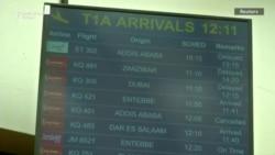 Porodice putnika Etiopijan erlajnsa na aerodromu Najrobiju