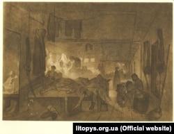 Малюнок Тараса Шевченка «Казарма», 1856–1857 роки